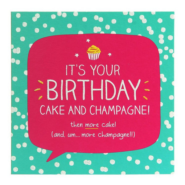 Happy Jackson Cake and Champagne Birthday Card