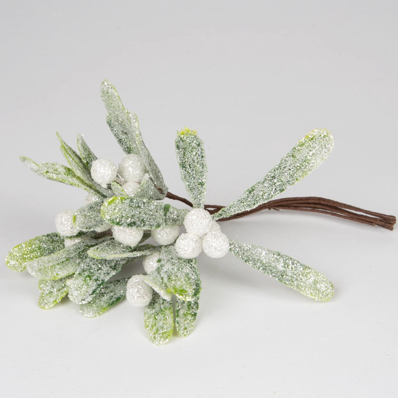 sass belle silver mistletoe branch christmas decoration - Mistletoe Christmas Decoration