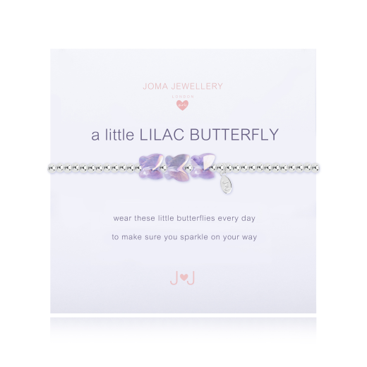 Joma Jewellery Girls A Little Lilac Butterfly Bracelet