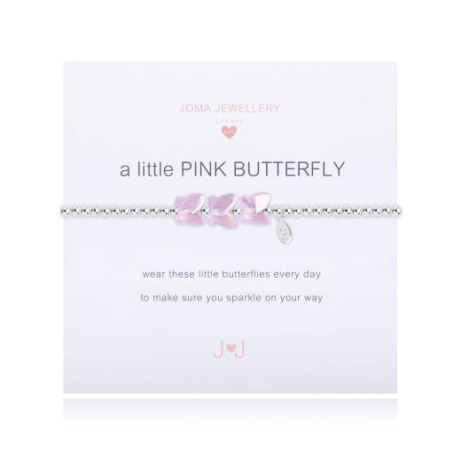 Joma Jewellery Girls A Little Pink Butterfly Bracelet