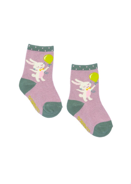 Powder Baby Socks - Bunny & Balloon
