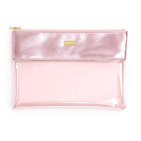 Ban.do Peekaboo Clutch - Metallic Pink Shimmer