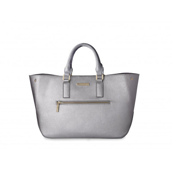 Katie Loxton Adalie Day Bag - Metallic Charcoal