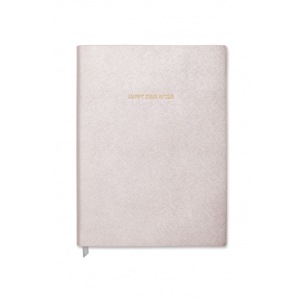 Katie Loxton Happy Ever After Large Notebook - Metallic White