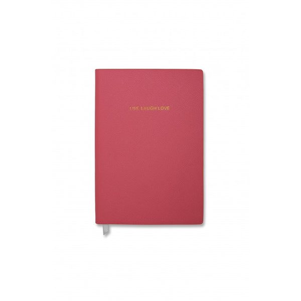 Katie Loxton Live Laugh Love Small Notebook - Fuchsia Pink