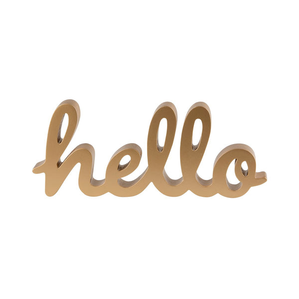 Sass & Belle Gold Hello Standing Letters