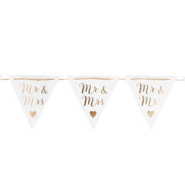 Sass & Belle Mr & Mrs Gold Paper Bunting