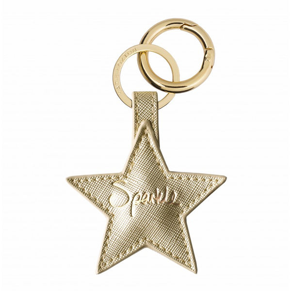 Katie Loxton Gold Star Keyring - Sparkle
