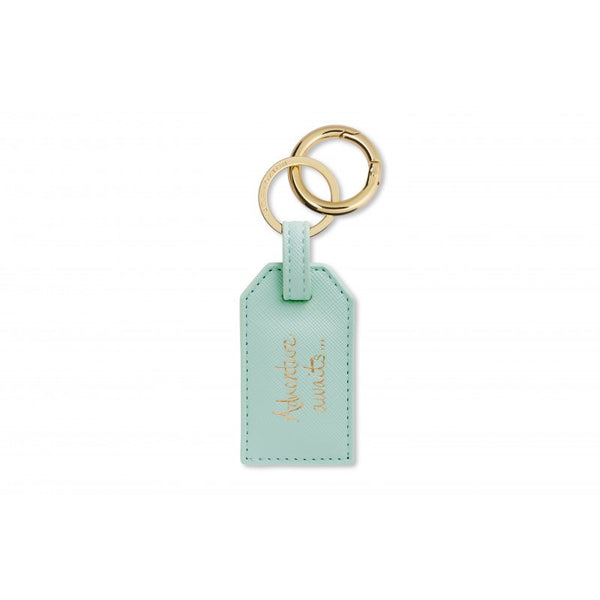 Katie Loxton Mint Luggage Tag Keyring - Adventure Awaits
