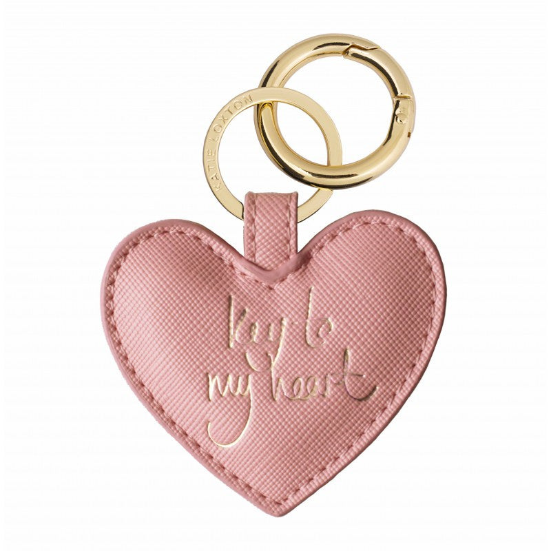 Katie Loxton Pink Heart Keyring - Key To My Heart