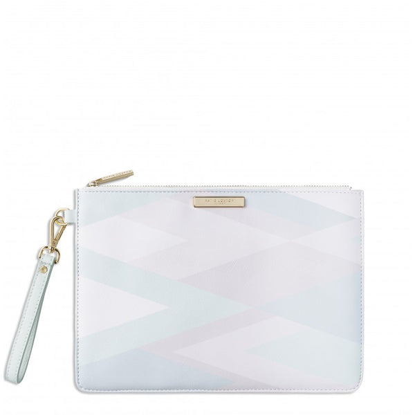 Katie Loxton Geo Print Clutch Bag - Mint