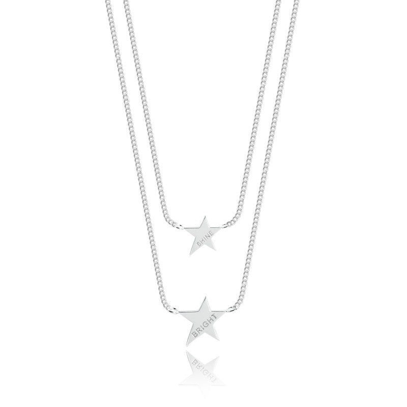 Joma Jewellery Coralie Double Layer Necklace - Shine Bright