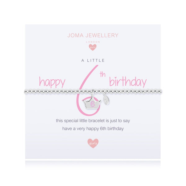 Joma Jewellery Girls A Little Happy 6th Birthday Bracelet
