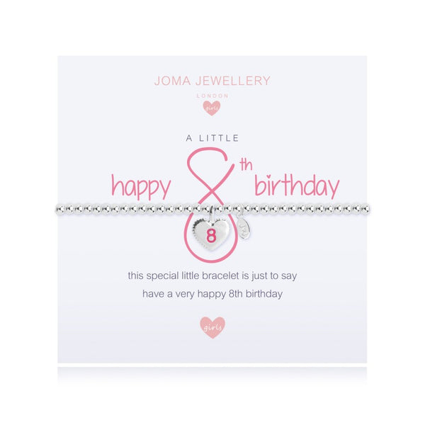 Joma Jewellery Girls A Little Happy 8th Birthday Bracelet