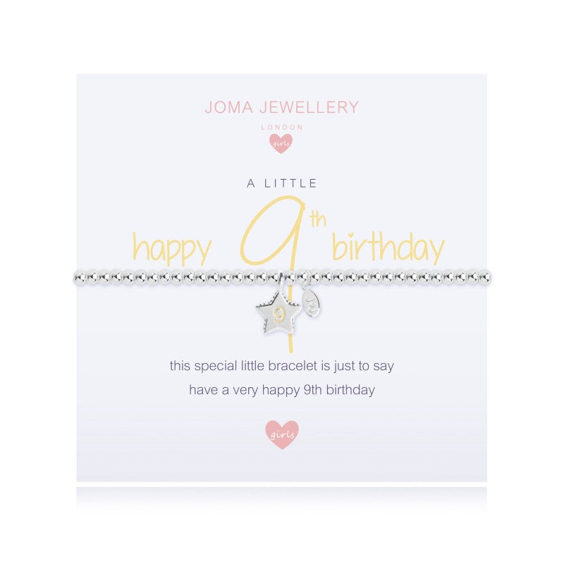 Joma Jewellery Girls A Little Happy 9th Birthday Bracelet