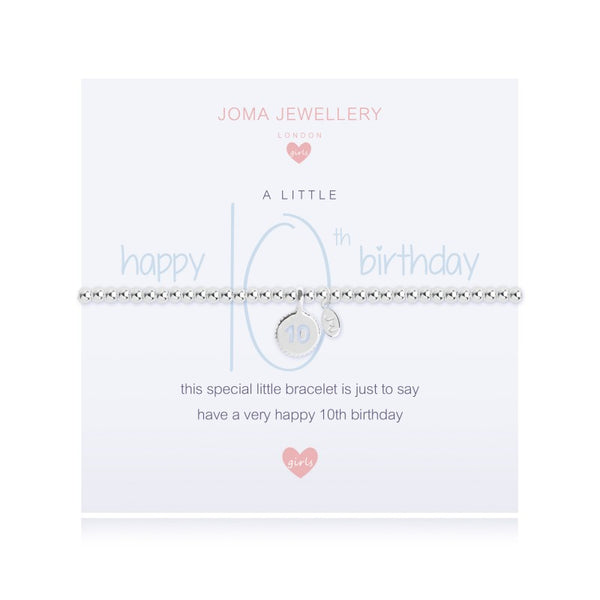 Joma Jewellery Girls A Little Happy 10th Birthday Bracelet