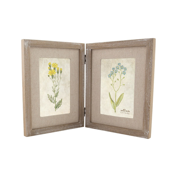 Sass & Belle Devonshire Farmhouse Double Photo Frame