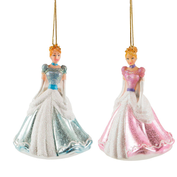 Sass & Belle Cinderella Princess Christmas Tree Decoration - Blue/Pink