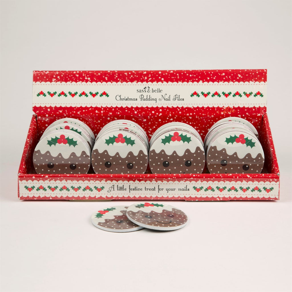 Sass & Belle Christmas Pudding Nail File