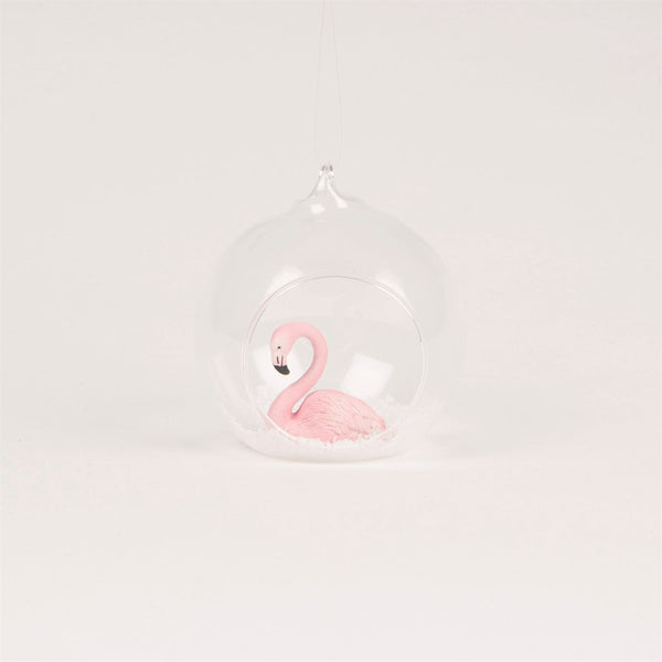 Sass & Belle Flamingo Open Bauble