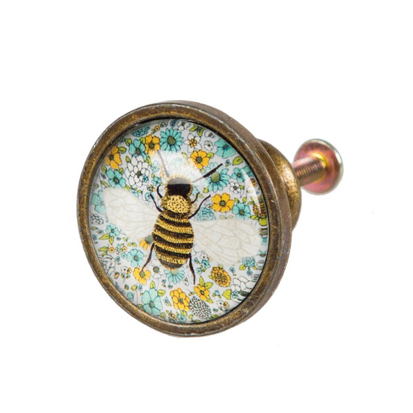 Sass & Belle Floral Bee Drawer Knob