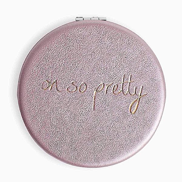 Katie Loxton Compact Mirror - Oh So Pretty (Metallic Pink)