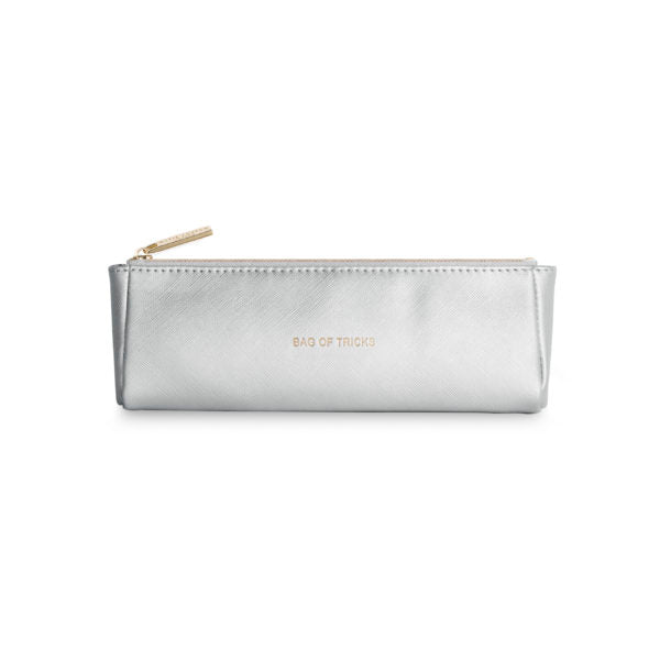 Katie Loxton Make Up Brush Bag - Bag of Tricks (Metallic Silver)