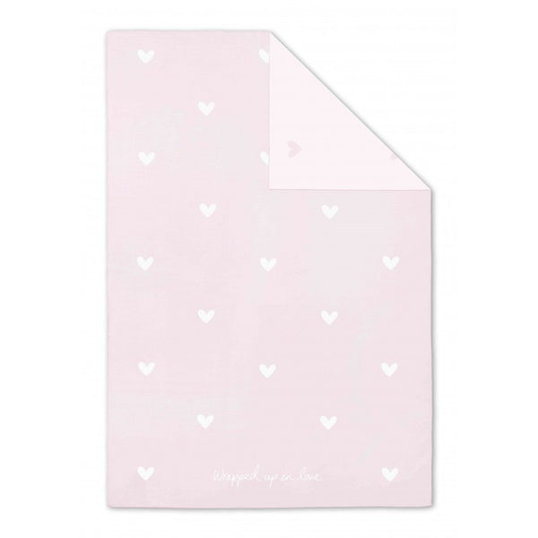 Katie Loxton Baby Blanket - Wrapped up in Love (Pale Pink)