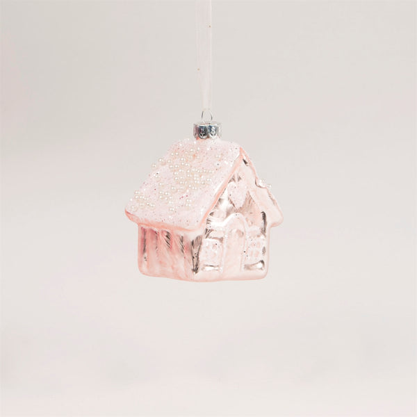 Sass & Belle Magical Pink Sparkly House Christmas Tree Decoration