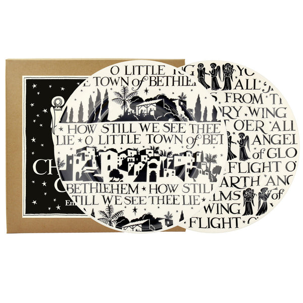 "Emma Bridgewater Christmas Carol Set of 2 8 1/2"" Plates (Boxed)"