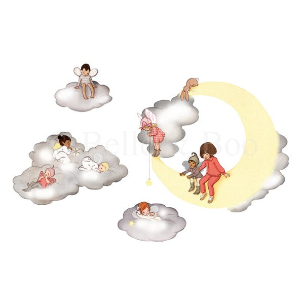 Belle & Boo Cloud Fairies Wall Sticker