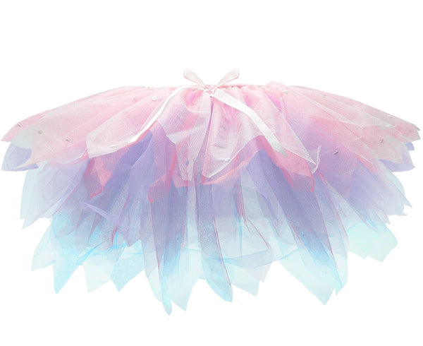Girl's Tutu - Multi Colour & Sequin