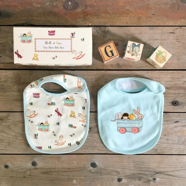 Belle & Boo Toy Box Baby Bib Set