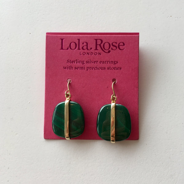 Lola Rose Boutique Bassa Earrings - Malachite