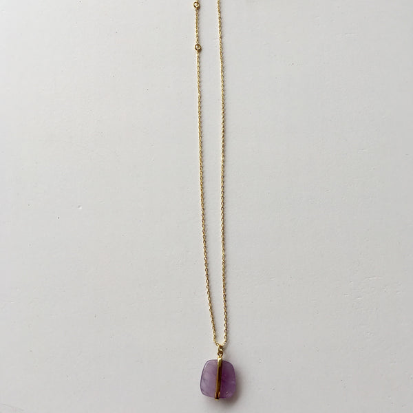 Lola Rose Boutique Bassa Necklace - Lavender Amethyst