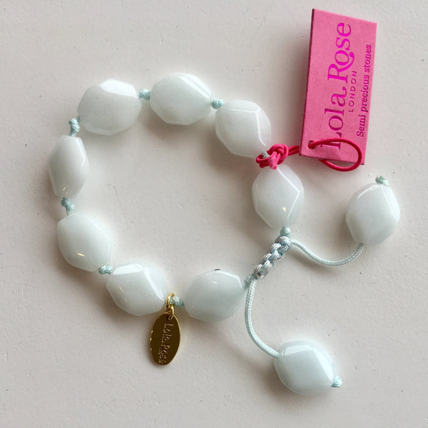Lola Rose Abbot Bracelet - Ice Blue Quartzite