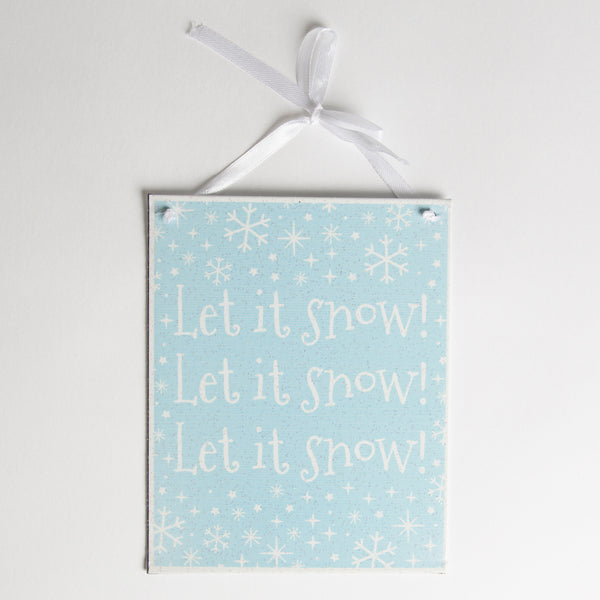 Sass & Belle Let It Snow Powder Blue Plaque