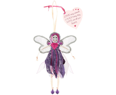 'Live, Laugh, Love' Glitter Quote Fairy