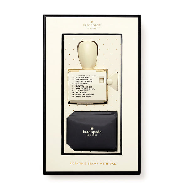 Kate Spade New York Rotating Stamp & Ink Set - Escape the Ordinary
