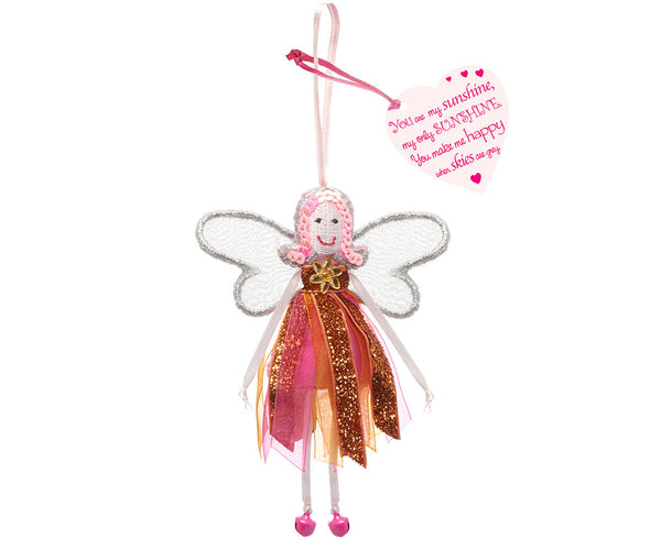 'You Are My Sunshine' Glitter Quote Fairy