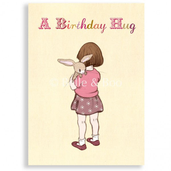 Belle & Boo 'Belle Hugs Boo' Birthday Card