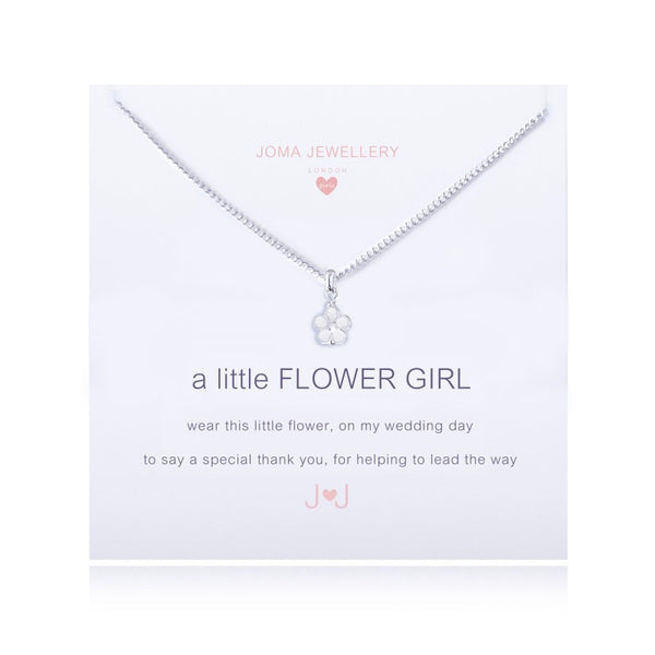 Joma Jewellery Girls A Little Flower Girl Necklace
