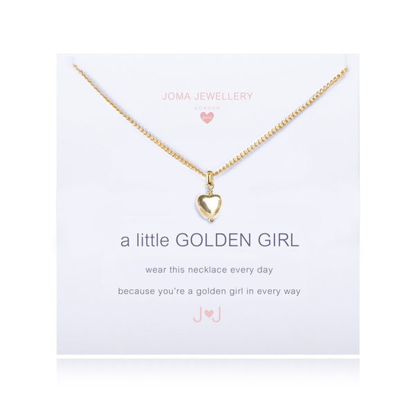 Joma Jewellery Girls A Little Golden Girl Necklace