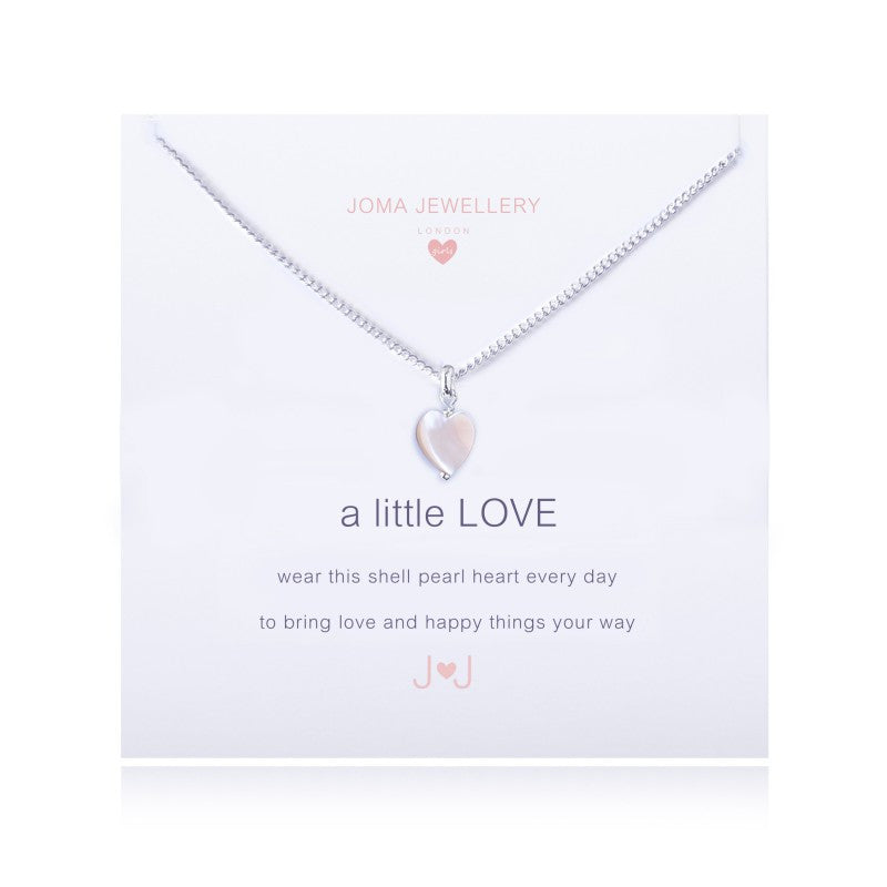Joma Jewellery Girls A Little Love Necklace - Pearl