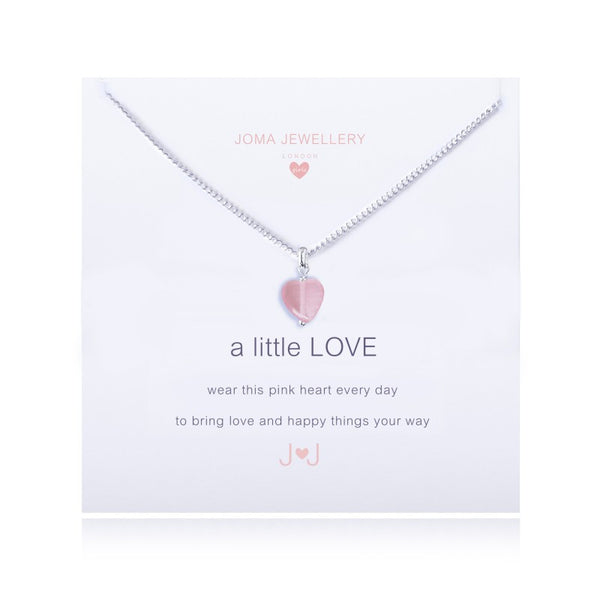 Joma Jewellery Girls A Little Love Necklace - Pink