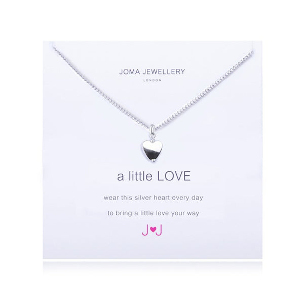Joma Jewellery A Little Love Necklace - Silver Heart