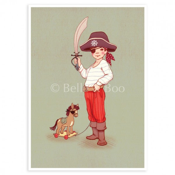 Belle & Boo Postcard - 'Ahoy There'