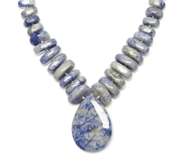 Lola Rose Akindi Necklace - Light Blue Waterlily Serpentine