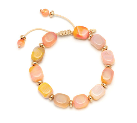 Lola Rose Angel Bracelet - Sunrise Montana Agate