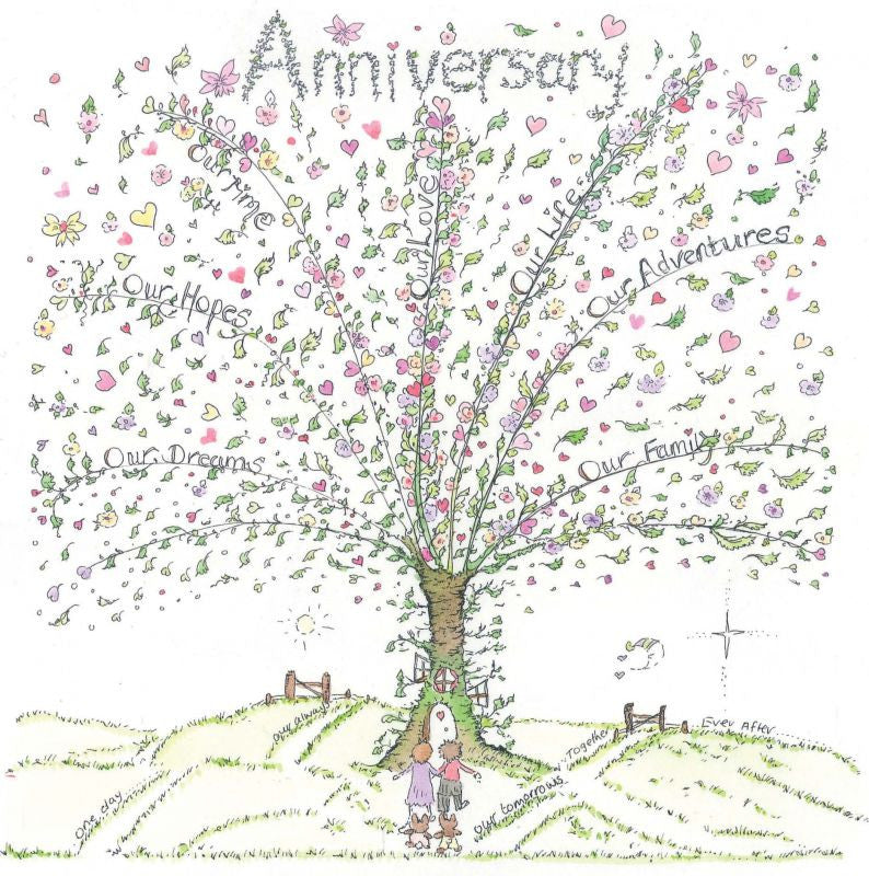 The Porch Fairies Card - Anniversary